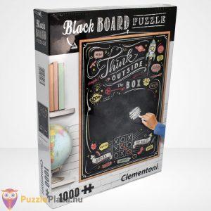 Clementoni - Black Board Puzzle - Think outside the box (1000 db) jobbról