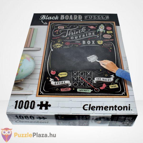 Clementoni - Black Board Puzzle - Think outside the box (1000 db) szemből