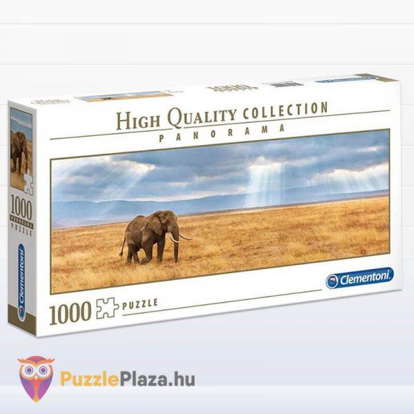 Elefánt a Szavannán Panoráma Puzzle 1000 db – Clementoni 39484 HQC balról