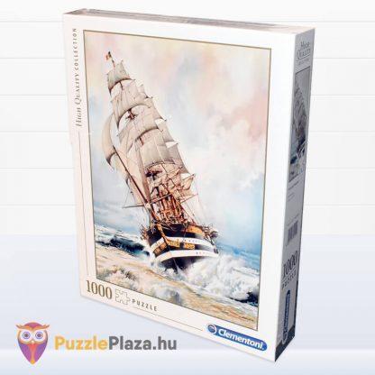 1000 darabos Amerigo Vespucci Hajó Puzzle doboza balról a Clementonitól