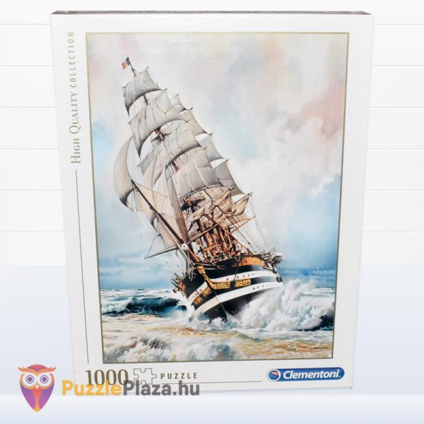1000 darabos Amerigo Vespucci Hajó Puzzle doboza előről a Clementonitól