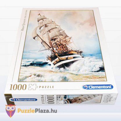1000 darabos Amerigo Vespucci Hajó Puzzle doboza fektetve a Clementonitól
