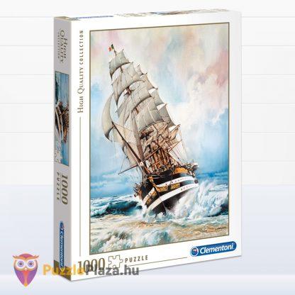 1000 darabos Amerigo Vespucci Hajó Puzzle doboza jobbról a Clementonitól