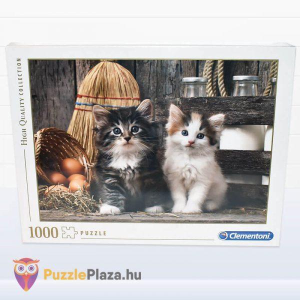 Aranyos Kiscicák Puzzle 1000 db-os. Clementoni 39340 - kirakó doboz