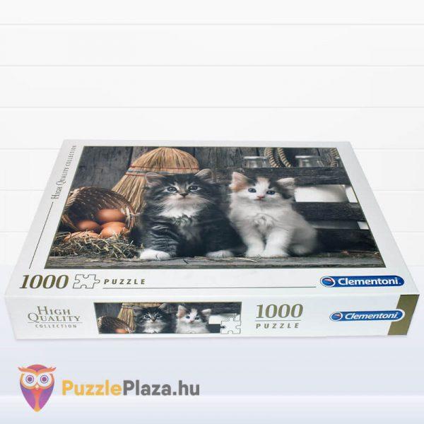 Aranyos Kiscicák Puzzle 1000 db-os. Clementoni 39340 - fektetett kirakó doboz