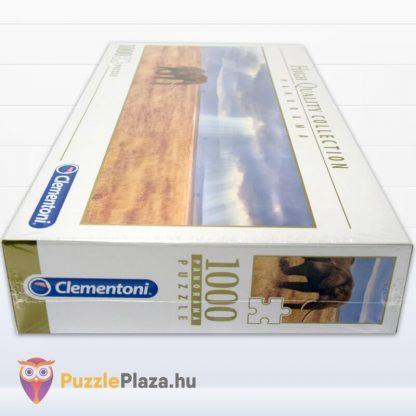 Elefánt a Szavannán Panoráma Puzzle 1000 db – Clementoni 39484 HQC doboza fektetve oldalról