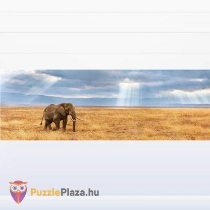 Elefánt a Szavannán Panoráma Puzzle 1000 db – Clementoni 39484 HQC kirakott képe
