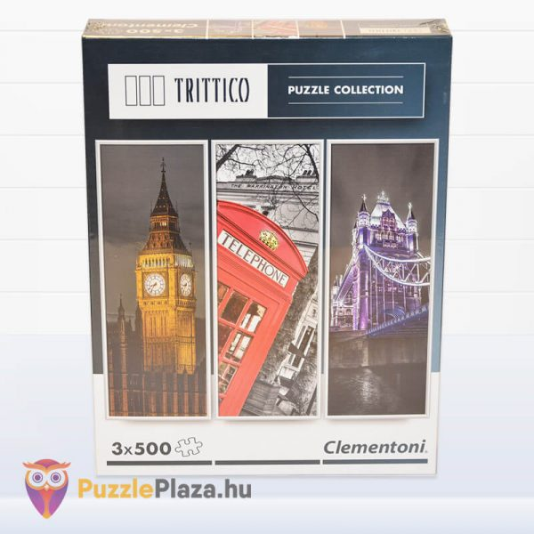London Puzzle - Trittico Collection kirakó a Clementoni doboza - 39306
