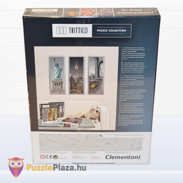 London Puzzle - Trittico Collection kirakó a Clementonitól hátulról - 39306
