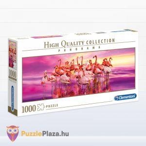 Rózsaszín 1000 db-os panoráma puzzle a Clementonitól jobbra