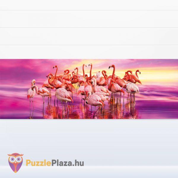 Rózsaszín 1000 db-os panoráma puzzle a Clementonitól kirakott kép