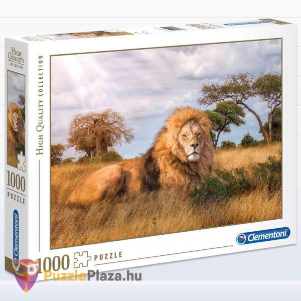 1000 darabos a király, az oroszlán puzzle. Clementoni 39479