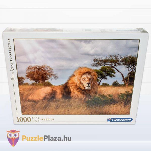 1000 darabos a király, az oroszlán puzzle. Clementoni 39479 doboz
