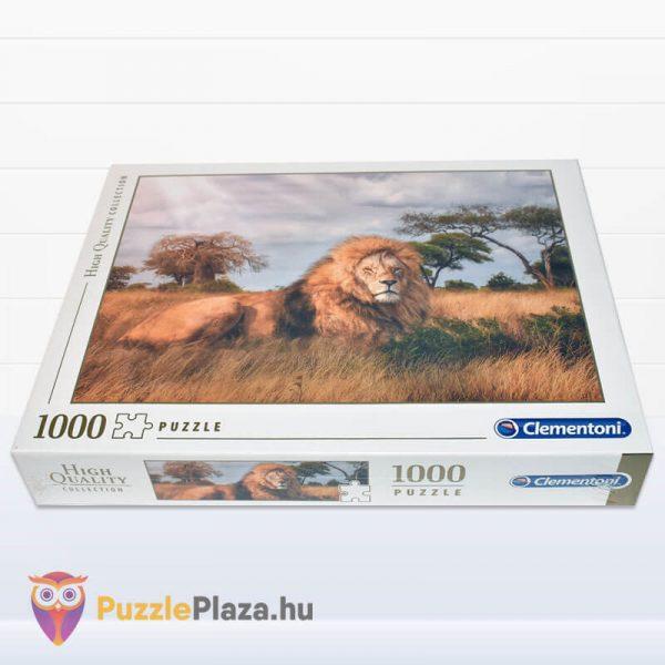 1000 darabos a király, az oroszlán puzzle. Clementoni 39479 fektetve