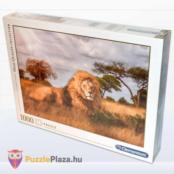 1000 darabos a király, az oroszlán puzzle. Clementoni 39479 oldalról
