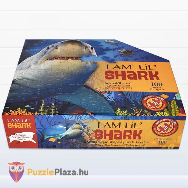 100 db-os Cápa Forma Puzzle Junior - Wow Toys doboz fektetve