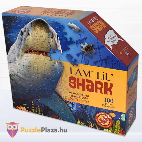 100 db-os Cápa Forma Puzzle Junior - Wow Toys doboz oldalról
