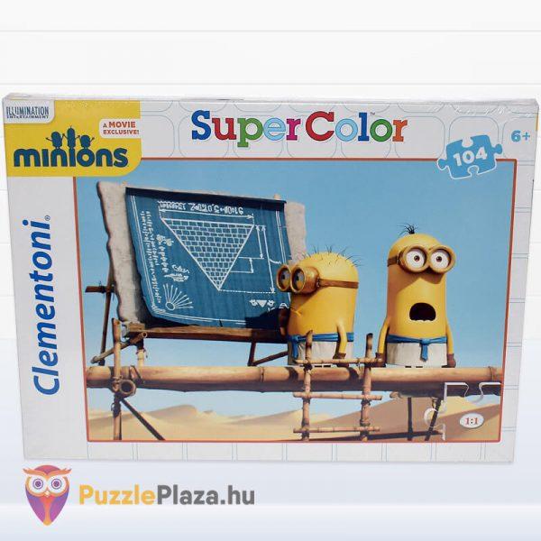 104 darbos Minyonok Puzzle - Clementoni Supercolor előről