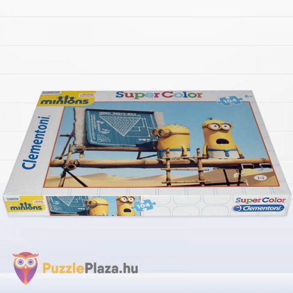 104 darbos Minyonok Puzzle - Clementoni Supercolor fektetve
