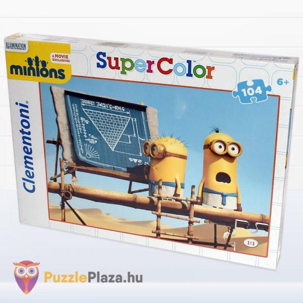 104 darbos Minyonok Puzzle - Clementoni Supercolor oldalról