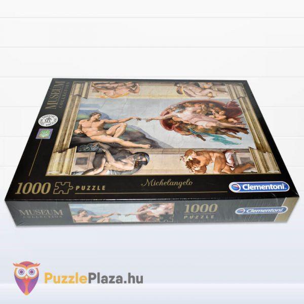 Ádám Teremtése - Michelangelo Puzzle 1000 db - Museum Collection - Clementoni 39496 fektetve