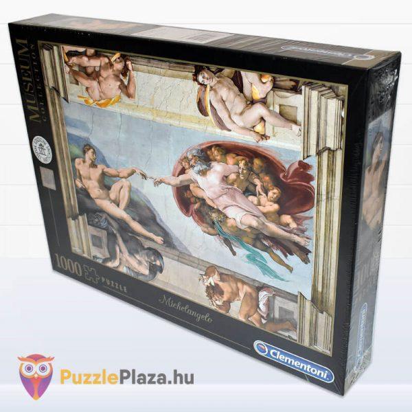 Ádám Teremtése - Michelangelo Puzzle 1000 db - Museum Collection - Clementoni 39496 oldalról
