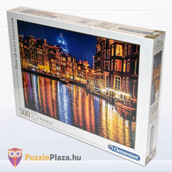 500 darabos Amsterdam Puzzle, Clementoni 35037 balról