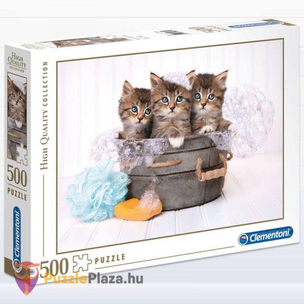 500 darabos cica puzzle (cicamosdás kirakó) - Clementoni 35065