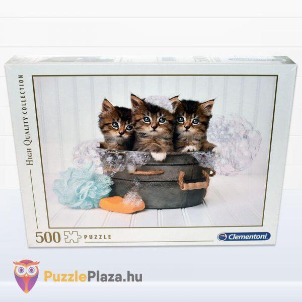 500 darabos cica puzzle (cicamosdás kirakó) - Clementoni 35065 előről