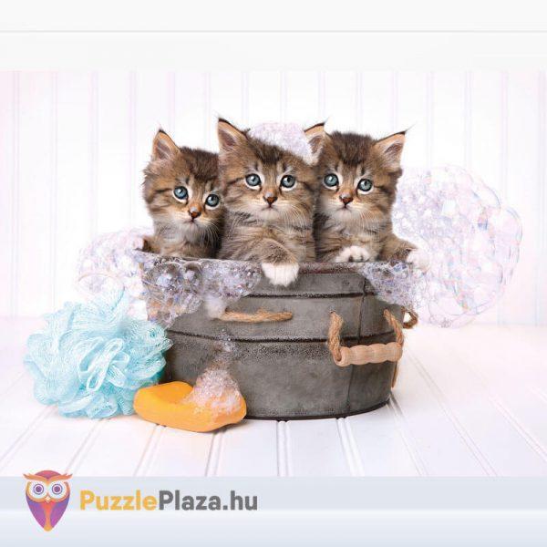 500 darabos cica puzzle (cicamosdás kirakó) - Clementoni 35065 kirakott kép