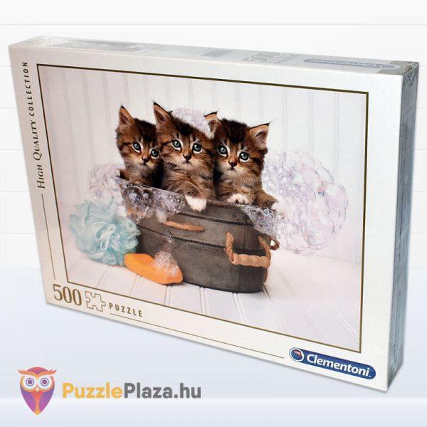 500 darabos cica puzzle (cicamosdás kirakó) - Clementoni 35065 oldalról