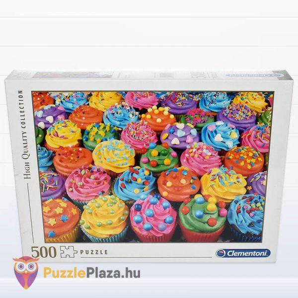 500 db-os Cupcake Puzzle (színes sütik kirakó) előről - Clementoni High Quality Collection