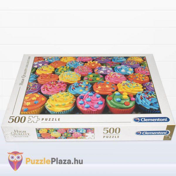 500 db-os Cupcake Puzzle (színes sütik kirakó) fektetve - Clementoni High Quality Collection