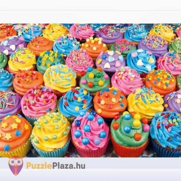 500 db-os Cupcake Puzzle (színes sütik kirakó) kirakott képe - Clementoni High Quality Collection