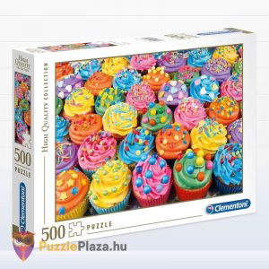 500 db-os Cupcake Puzzle (színes sütik kirakó) oldalról - Clementoni High Quality Collection