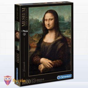 1000 db Da Vinci - Mona Lisa Puzzle - Museum Collection - Clementoni 31413