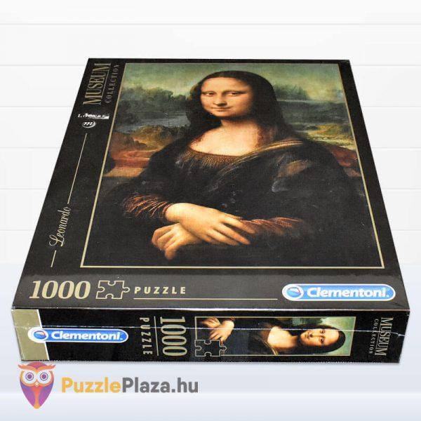 1000 db Da Vinci - Mona Lisa Puzzle - Museum Collection - Clementoni 31413 doboz fektetve