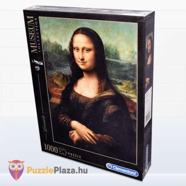 1000 db Da Vinci - Mona Lisa Puzzle - Museum Collection - Clementoni 31413 doboz oldalról