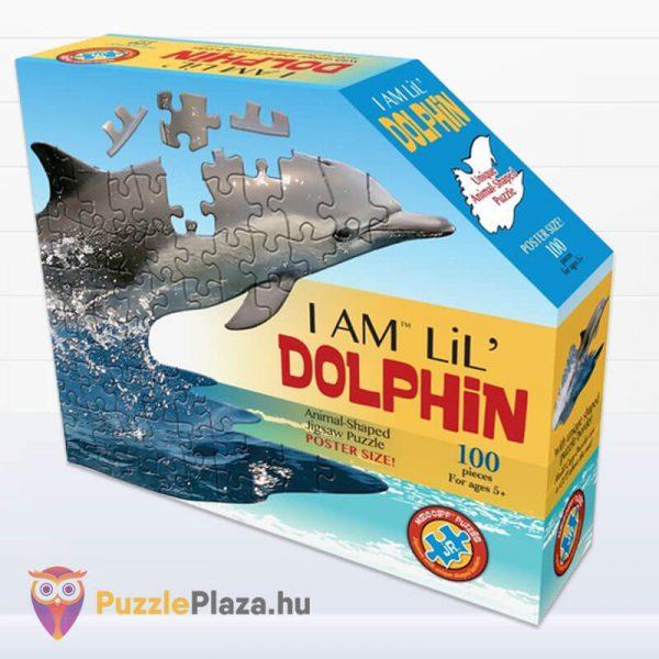 100 darabos delfin formájú puzzle, Wow Toys