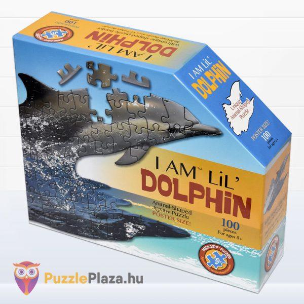 100 darabos delfin formájú puzzle, Wow Toys - balról