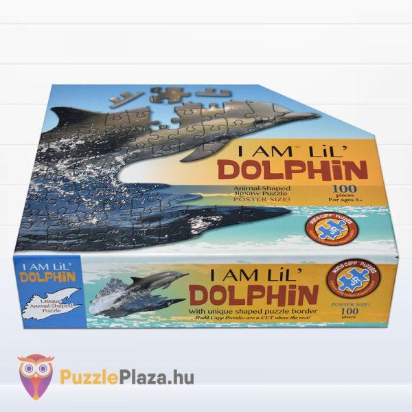 100 darabos delfin formájú puzzle, Wow Toys - fektetve