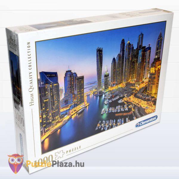 1000 darabos Dubai Puzzle éjszaka. Clementoni 39381 balról