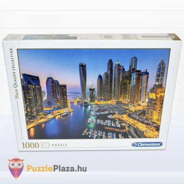 1000 darabos Dubai Puzzle éjszaka. Clementoni 39381 előről