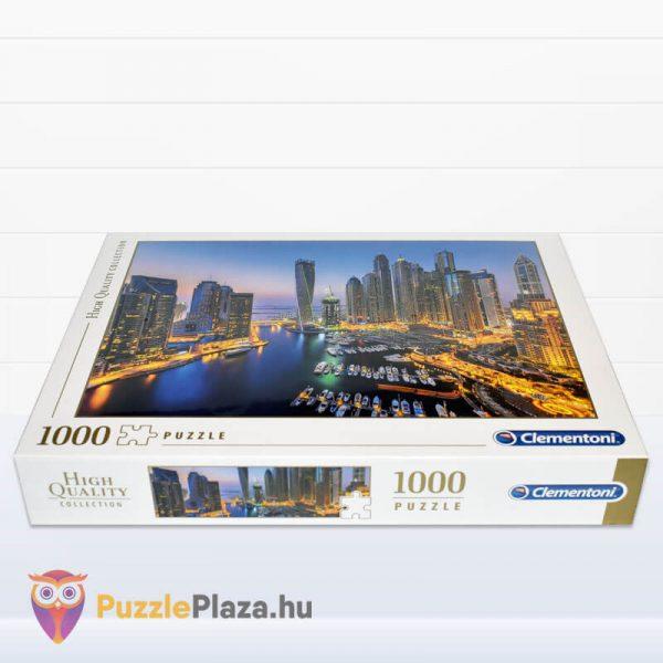 1000 darabos Dubai Puzzle éjszaka. Clementoni 39381 fektetve