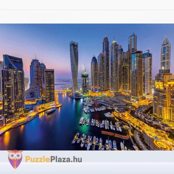 1000 darabos Dubai Puzzle éjszaka. Clementoni 39381 kirakott kép