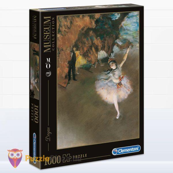 1000 darabos Edgar Dages - A táncosnő a szinpadon puzzle, museum collection. Clementoni 39379
