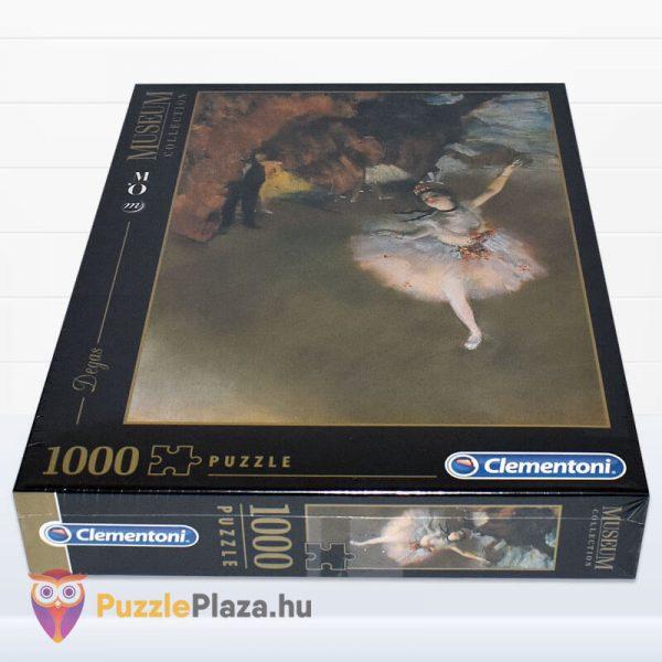 1000 darabos Edgar Dages - A táncosnő a szinpadon puzzle, museum collection. Clementoni 39379 fektetve
