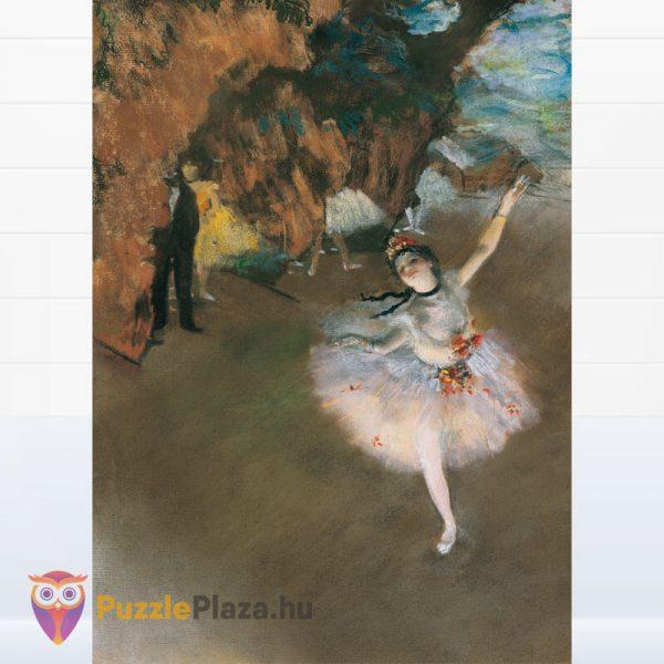 1000 darabos Edgar Dages - A táncosnő a szinpadon puzzle, museum collection. Clementoni 39379 kirakott kép