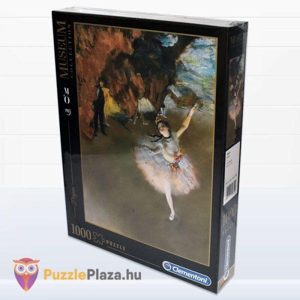 1000 darabos Edgar Dages - A táncosnő a szinpadon puzzle, museum collection. Clementoni 39379 oldalról