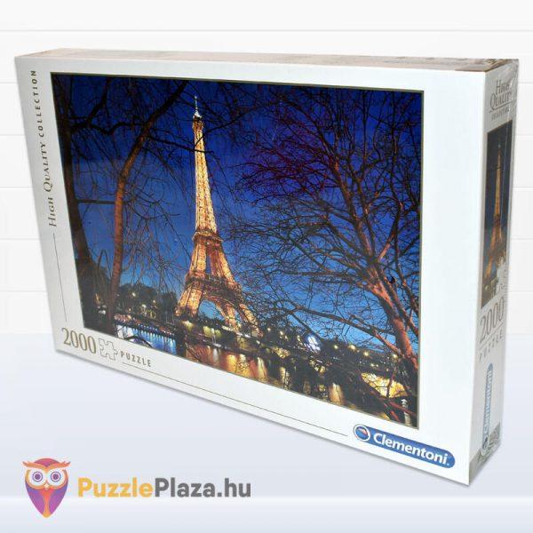 2000 darabos Eiffel torony Puzzle (Párizsban). Clementoni 32554 High Quality Collection oldalról